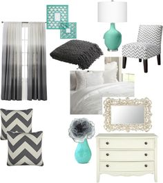 """gray and blue"" by autumbaby on Polyvore love this color scheme! defenitly going to use this!"