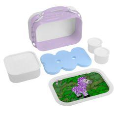Purple Zebra kids lunch box
