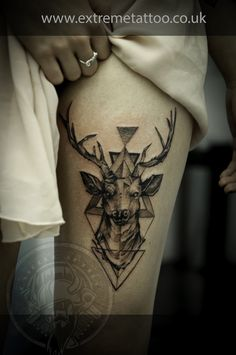 Dear tattoo, Stag tattoo, Dot-work tattoo, Gabi Tomescu, Extreme…