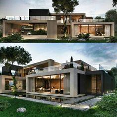 49 most popular modern dream house exterior design ideas 45 - Architektur - Modern Architecture House, Modern House Design, Amazing Architecture, Casas Containers, Dream House Exterior, Villa Design, Architect Design, Exterior Design, Modern Exterior