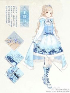 Anime Ice/Snow Princess. She is very pretty! #AnimeDaily