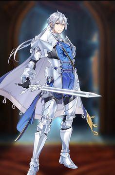 Epic Seven | Twin | Captain of Anime Elf, Character Art, Character Design, Royal Guard, Armor Concept, Handsome Anime Guys, Manga Boy, Manga Characters, Anime Fantasy