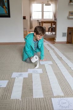 use toilet paper to help kids grasp the scale of the solar system - great math and language art exercises included