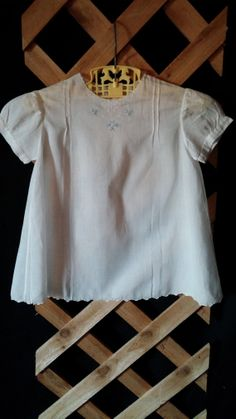 Baby Doll Dress White Detailed With Blue And by frankiesfrontdoor, $25.00