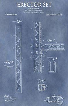 NICE GIFT U BUILD Vintage A.C Gilbert Erector SET METAL BRIDGE  RUSTIC GIRDER