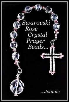 Mini Rosary/Personal Pocket Prayer Beads. Christening idea for favors. (I can turn this into a dyi project!)