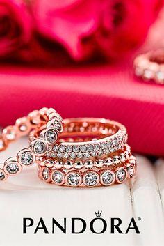 PANDORA Rose has undertones of pink and rosy hues. #PANDORATexas #PANDORArings #PANDORA