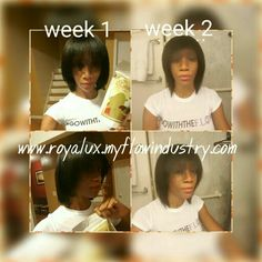 My hair growth in 2 weeks with this all natural product royalux.myflowindustry.com #hair #hairgrowth #natural #naturalhair #beauteaful #prettea #beauty
