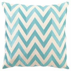 Bring an eye-catching pop of pattern to your living room or master suite with this stylish linen pillow, showcasing a chevron motif and feather-down fill.