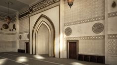 El Zaidan mosque is located in Damam , KSA .Interior design and architectural visualization by me using autocad - 3ds max - vray - photoshop .For hamed bn hamri office