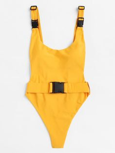 Drop Armhole High Leg Buckle One Piece Swimsuit One Piece Swimsuit For Teens, One Piece Swimsuit Flattering, One Piece Swimsuit Slimming, Swimsuits For Big Bust, Swimsuits For Teens, Modest Swimsuits, Swimwear Fashion, Women's Swimwear, Beachwear Clothing