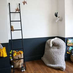 Half painted walls in a nursery will disguise muddy finger prints and scuffs. Paint the bottom half in gloss paint and you can wipe it clean as well