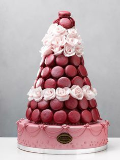 macaron and cake mixed croquembouche #wedding #ido