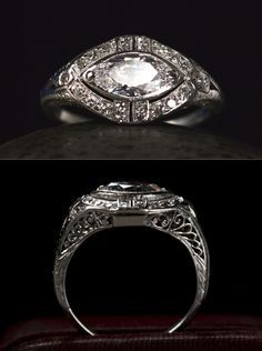 I took a basic Marquise, turned it sideways and added ...