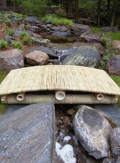 Garden Bridge Designs on Bamboo Works So Well With The Other Natural Elements Of The Garden
