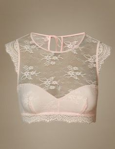 This eyelash lace  bralet is a playfully feminine take on a more classic bra style.