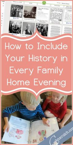 This is a great way to include your family history stories in FHE