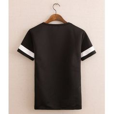 Stylish Round Neck Slimming Simple Letter Print Short Sleeve Men's Cotton T-shirt #CLICK! #clothing, #shoes, #jewelry, #women, #men