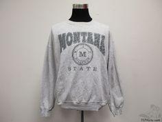 Vtg 90s Russell Montana State Billings Yellowjackets Sweatshirt sz 2XL XXL NCAA #Russell #MontanaStateBillingsYellowjackets