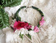 Kwiatowy naszyjnik z filcu filcowy naszyjnik Feltmondo   Etsy