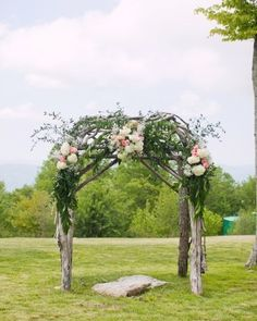 Romantic Wedding Archway!! may do something like this