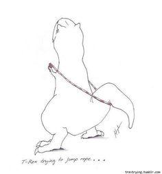 T-Rex hates double unders. Lol crossfit humor