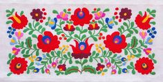 Photo about Traditional Hungarian embroidery with floral motives. Image of embroidery, linen, green - 20809353 Embroidery Designs, Crewel Embroidery Kits, Learn Embroidery, Embroidery Patterns Free, Floral Embroidery, Mexican Embroidery, Hungarian Embroidery, Chain Stitch Embroidery, Embroidery Needles