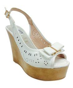 Loving this White Llka Wedge Sandal on #zulily! #zulilyfinds