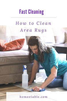 Discover the best ways to clean area rugs. These DIY cleaning hacks and deep clean techniques work with shag and berber, and remove urine smell. #homevialbe #deepclean #carpetcleaners #arearugs Cleaning Area Rugs, Cleaning Diy, Deep Cleaning, All Natural Cleaning Products, Diy Cleaning Products, Cleaning Solutions, Natural Carpet Cleaners, Diy Carpet Cleaner, Remove Urine Smell