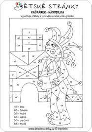 Vysledek Obrazku Pro Velka Nasobilka Pracovni List Matematika