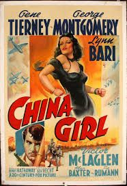 China Girl Gene Tierney George Montgomery 1942 Tm And Copyright Century Fox Film Corp. All Rights Reserved/Courtesy Everett Collection Movie Poster Masterprint Classic Movie Posters, Movie Poster Art, Classic Movies, Gene Tierney, China Girl, Old Movies, Vintage Movies, Bari, Movie Photo