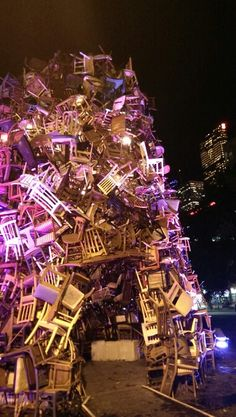 Nuit Blanche 2013 2013, Festivals, Toronto, Christmas Tree, Events, Holiday Decor, Home Decor, Sleepless Nights, Teal Christmas Tree