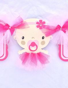 Its a girl tutu baby shower banner by NancysBannerBoutique