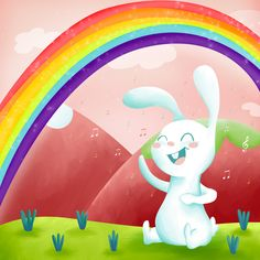 Bunny happily singing in, what seems to be,... - veronica parra