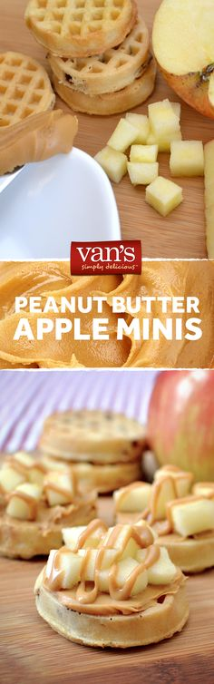 We're topping our minis with the taste of fall. Just add diced apples and peanut butter for a tasty treat!