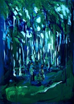 "Saatchi Online Artist Monika Vitanyi; Painting, ""In the forest"" #art"