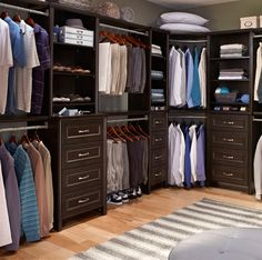 A closet so gorgeous, we might just make it our Zoom background! Featured: Impressions, available exclusively at @homedepot #MansCloset #ClosetDesign #DIY