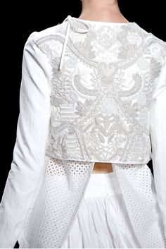 Vera Wang - embroidery and open weave fabric