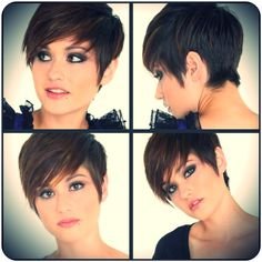 Pixie Haircut Front and Back - Bing Images Girl Short Hair, Short Hair Cuts, Short Hair Styles, Best Pixie Cuts, Short Wavy, Short Pixie Haircuts, Pixie Hairstyles, Shaved Hairstyles, Sassy Haircuts