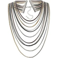 Wallis Mix Metal Multi Row Necklace £15.00
