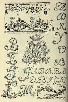 French Rococo style script