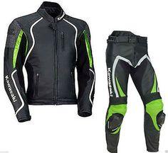 #Ninja #Kawasaki #Motorbike #Genuine #Leather_Suit_Jacket_Pant #Safety_Pads