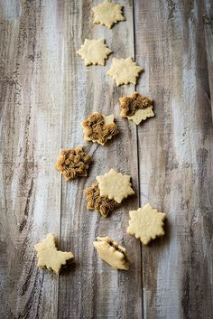 Vanilla Cardamom Shortbread Snowflake Sandwich Cookies with Espresso Buttercream Filling