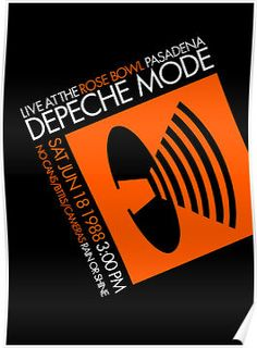 Music for the masses tour Depeche Mode Tour, Depeche Mode Albums, Tour Posters, Band Posters, All I Ever Wanted, Black Cover, Concert Posters, Cool Bands, Concerts