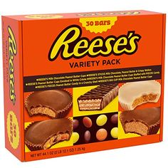 This Reese's Peanut Butter Candy Variety Pack is a perfect gift. Packed with peanut butter cups, candy bars, Reese's pieces and more. Click through to learn where to buy this Reese's Variety Pack! Reese's Chocolate, Chocolate Peanuts, Chocolate Peanut Butter, Christmas Chocolate, Easter Chocolate, Peanut Butter Cups, Creamy Peanut Butter, Gourmet Recipes, Snack Recipes