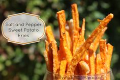 Salt and Pepper Sweet Potato Fries - Hollywood Homestead//Review by AL: Not bad, but won't go thru the work again...