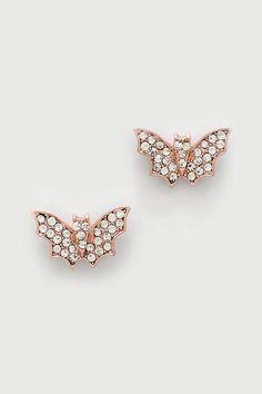 Crystal Battie Earrings in Rose