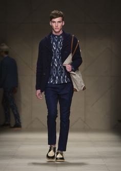 Indonesian Kain Ikat in Burberry Spring/Summer 2012