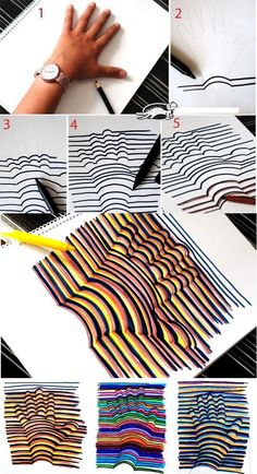 Learn how to draw a Hand Illusion. Super easy and a fun craft for kids! Learn how to draw a Hand Illusion. Super easy and a fun craft for kids! Bored At Work, Bored At School, Bored In Class, Projects For Kids, Class Projects, Project Ideas, Older Kids Crafts, Hand Crafts For Kids, Crafts For Teens To Make