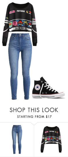 """Untitled #409"" by thenerdyfairy on Polyvore featuring Converse"
